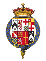 Coat of arms of Charles Mordaunt, 3rd Earl of Peterborough